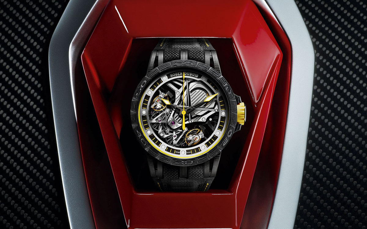Roger Dubuis Excalibur Aventador S Yellow Packshot fx