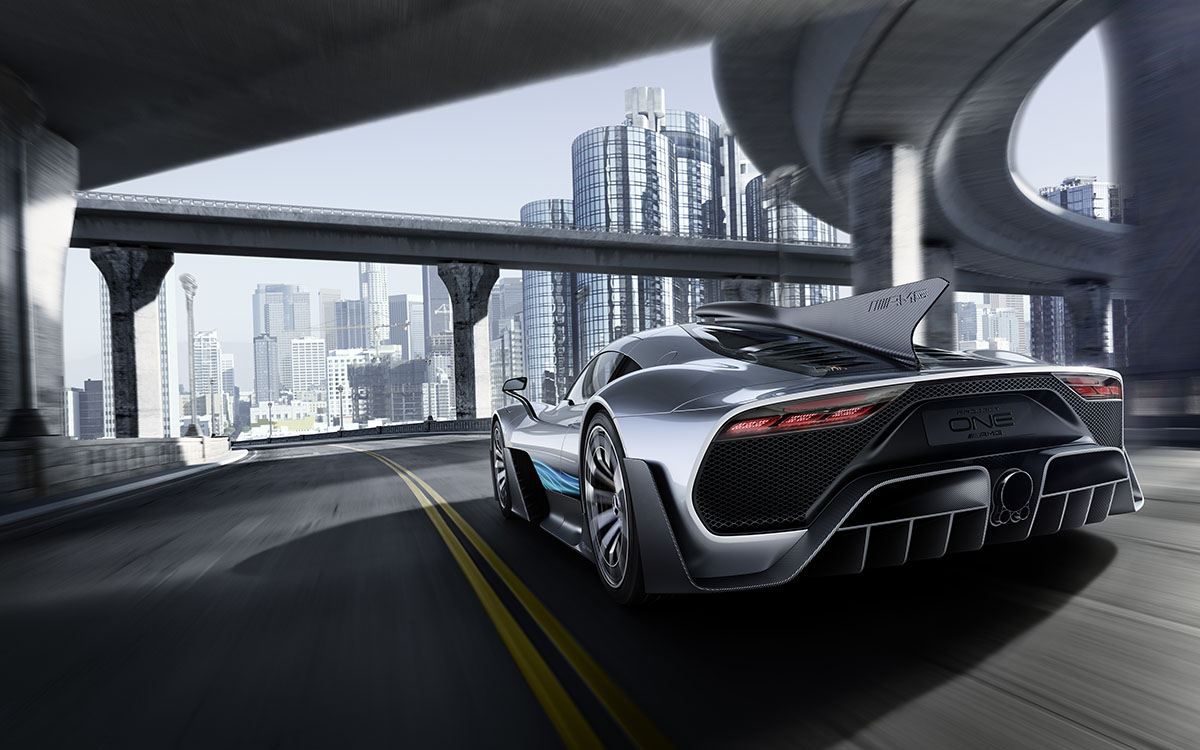 Mercedes AMG Project ONE trasera puente fx