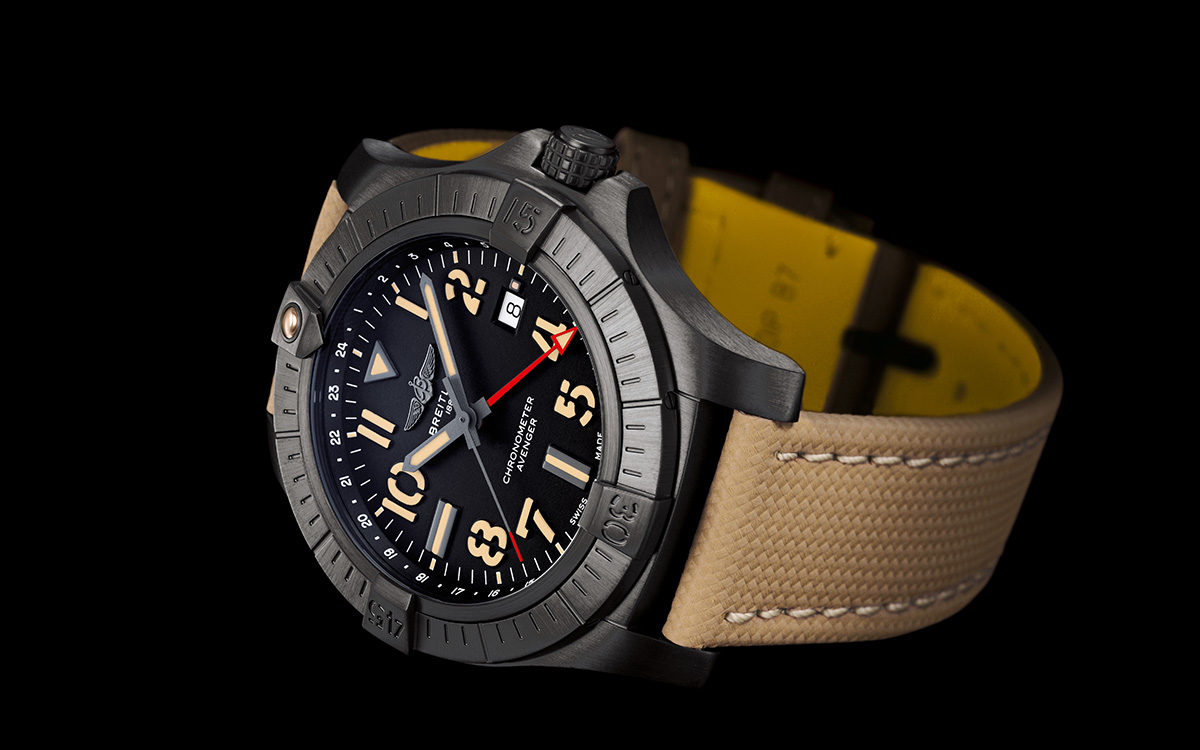 avenger automatic gmt 45 night mission 2 fx