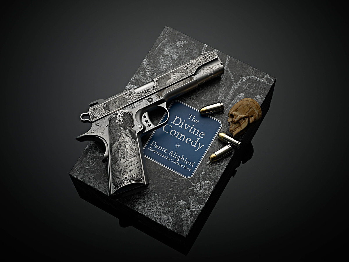 Dante's Inferno 1911 Pistol by Cabot