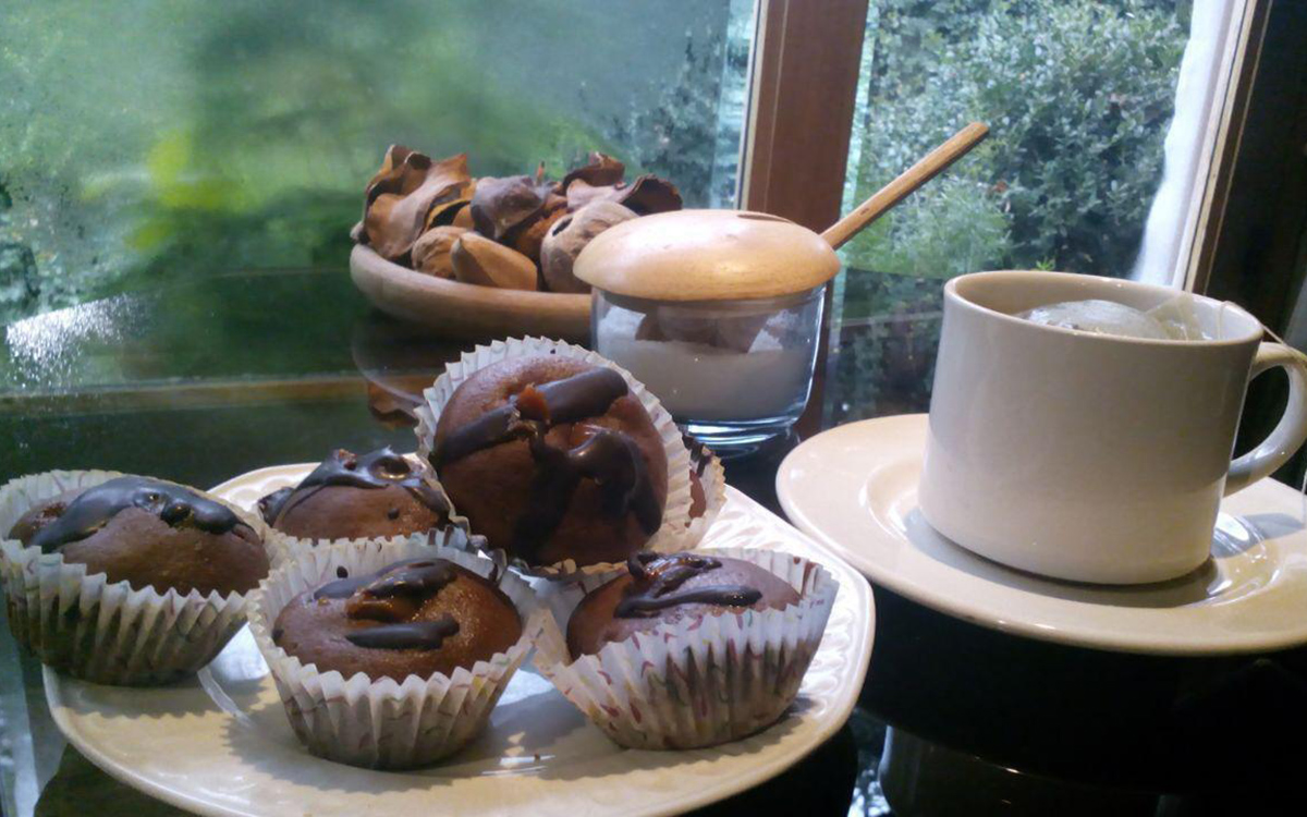 Muffins con chips de chocolate
