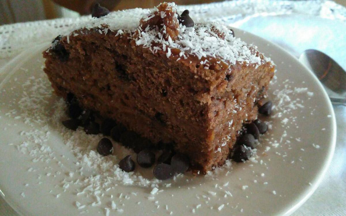 Bizcochuelo de chocolate y coco