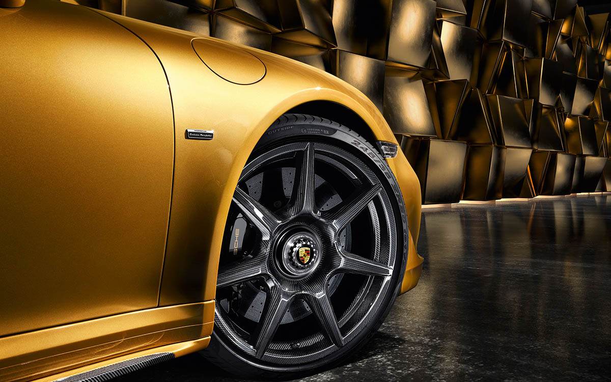 Porsche 911 Turbo Carbon Wheels
